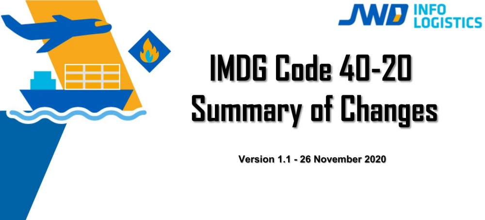 ประกาศ DG -Net : IMDG Code 40-20
