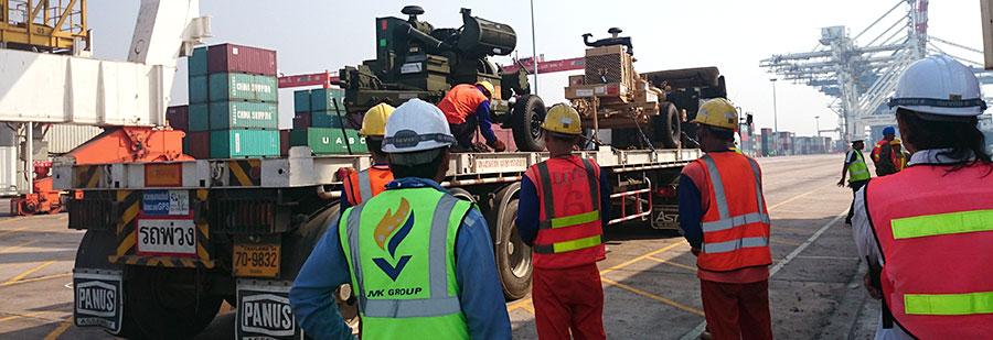 ศูนย์ความปลอดภัยตรวจความปลอดภัยสินค้าอันตราย (กระสุนปืน/วัตถุระเบิด) ณ ท่าเรือแหลมฉบัง สำหรับการฝึกซ้อมรบ ประจำปี 2558 (Cobra Goal) ของกองทัพไทยและหน่วยนาวิกโยธิน สหรัฐอเมริกา
